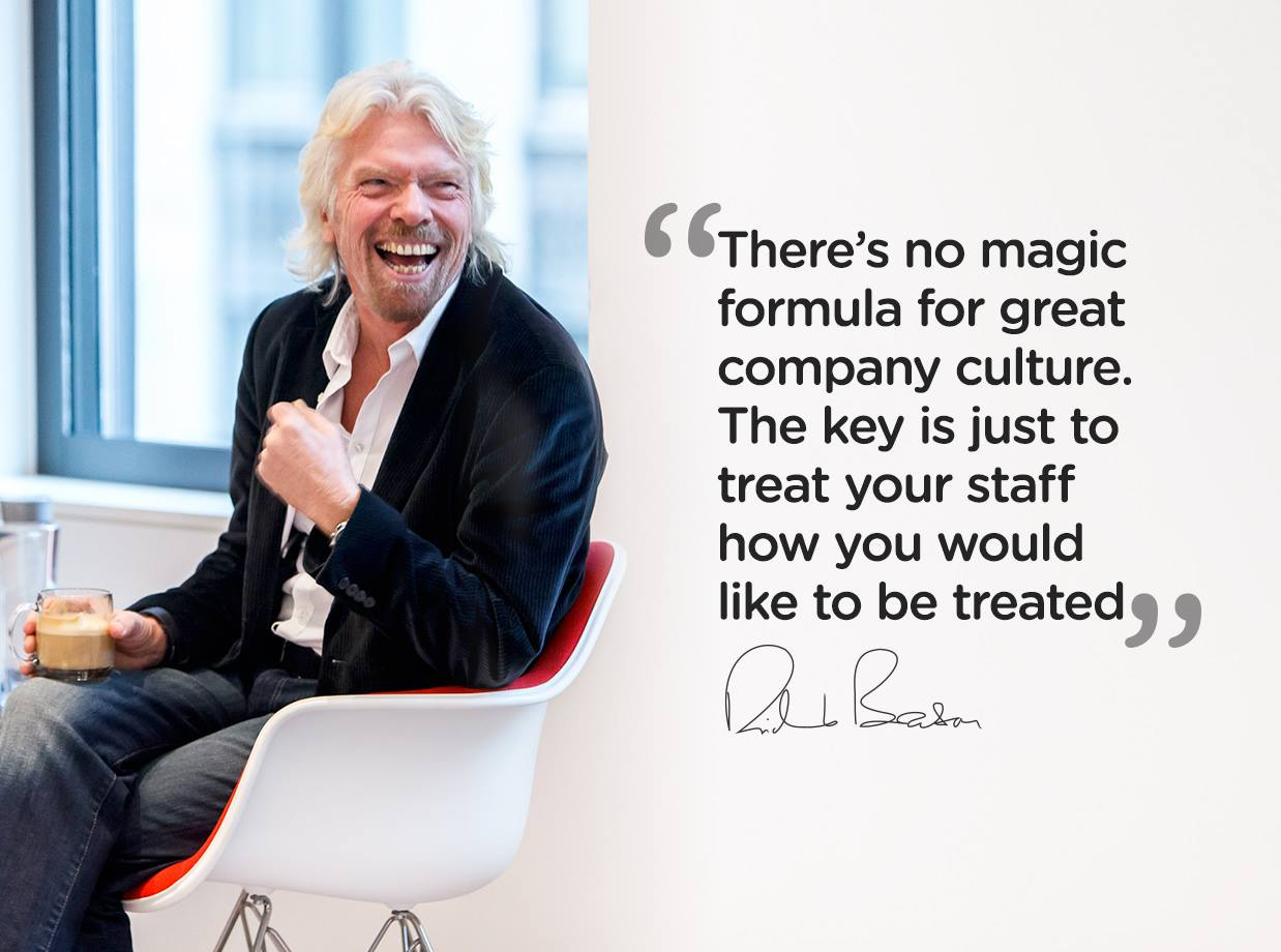 Richard Branson Employees First Quote